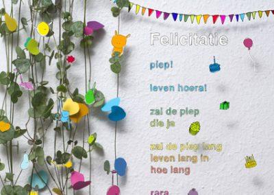 "Plint – poëzieposter ""felicitatie"""