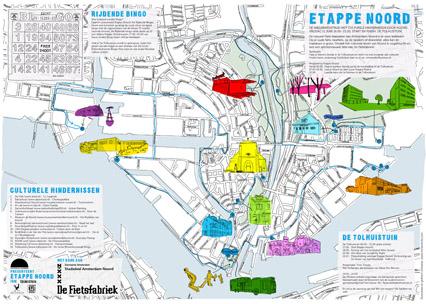 Routekaart Amsterdam Noord