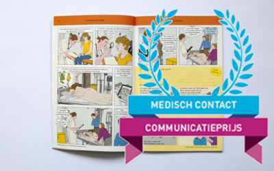 Comic book printed and nominated for Medical Contact Communication Award 2016