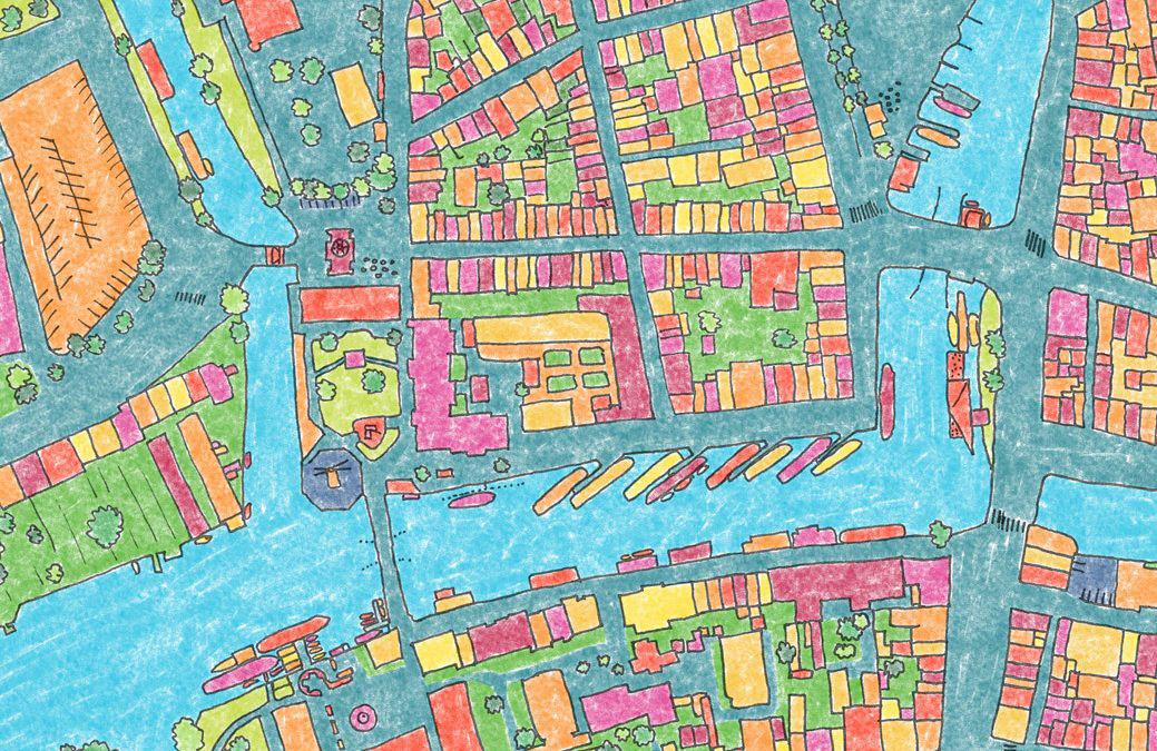 Expositie: handgetekende kaart van Leiden