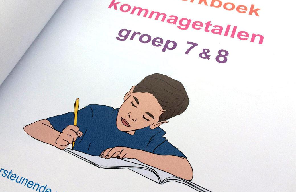 Illustratie jongetje voor omslag boeken Sommenfabriek