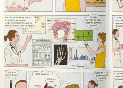 Stripverhaal wetenschappelijk medicijnonderzoek voor kinderen (informed consent)