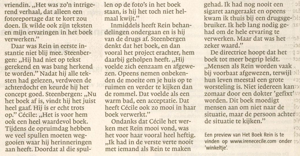 2012-12-19 Leidsch Dagblad Het boek Rein 3
