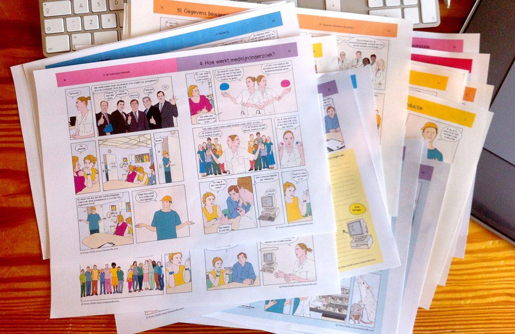 Eerste versie stripboek over medisch-wetenschappelijk onderzoek