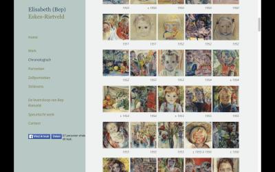 Website rondom werk Elisabeth Rietveld