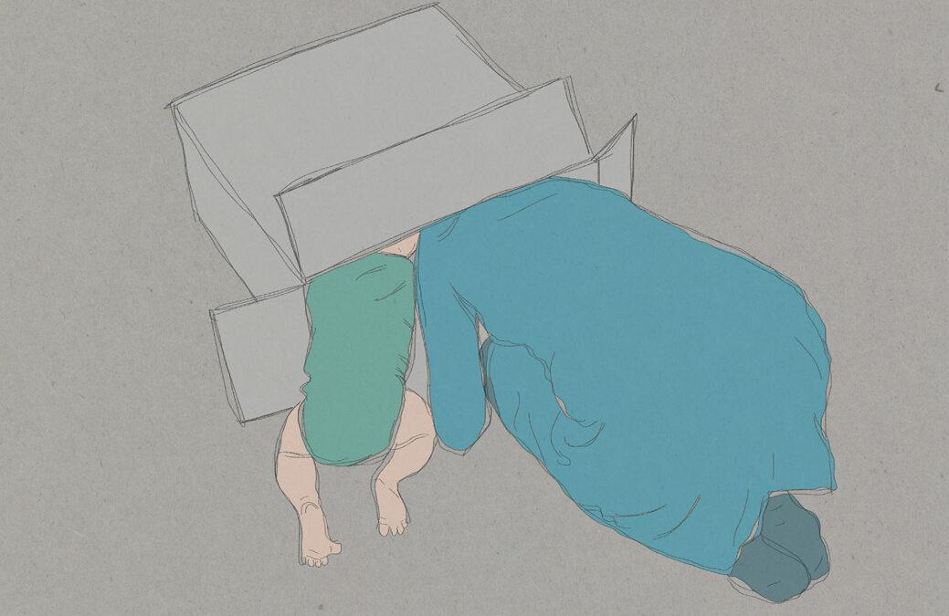 Met Yuki in een doos