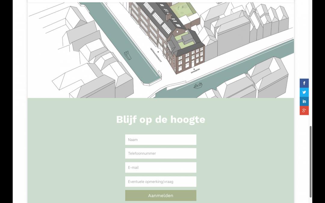 Ontwerp website voor Huishoudschool Leiden