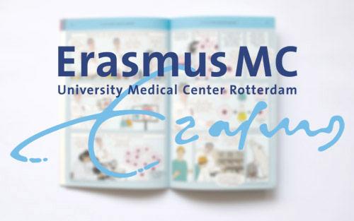 'Mijn' stripboek nu ook in het Erasmus MC gebruikt
