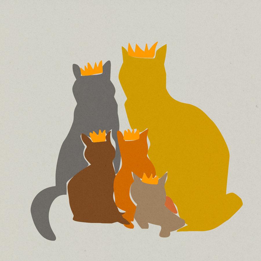 Irene Cecile - koningsdag katten