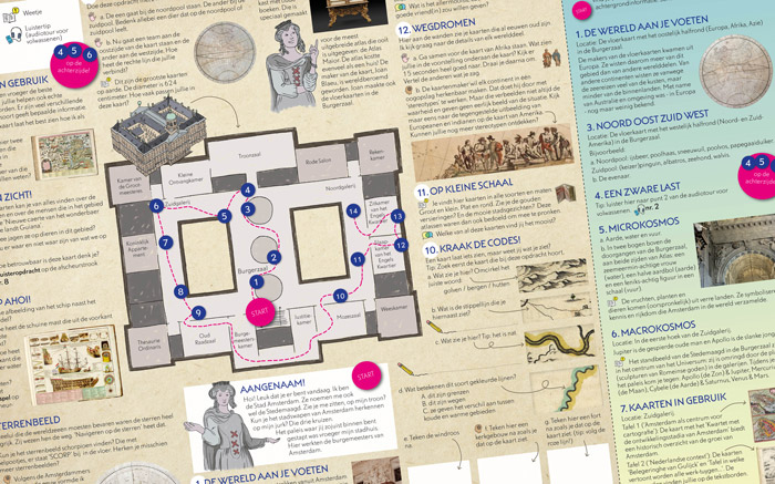 Royal Palace Amsterdam – Exhibition scavenger hunt map