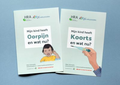 General practitioners & CJG Apeldoorn – Leaflets about fever and earache in small children