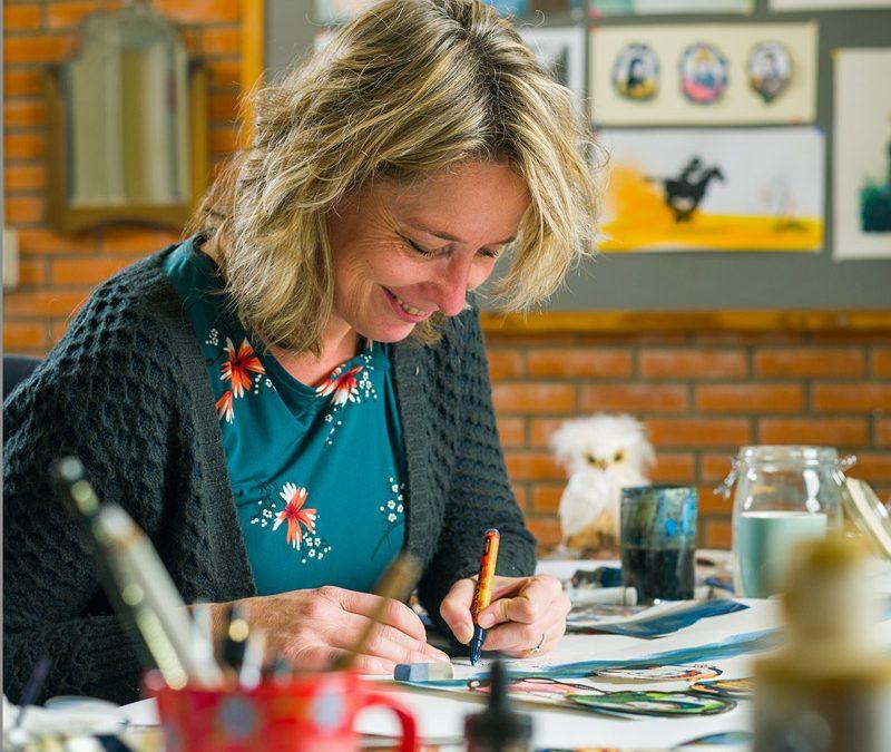 #4 Marijke Klompmaker leerde zich het perspectief tekenen expres weer af en omarmde 'schots en scheef'
