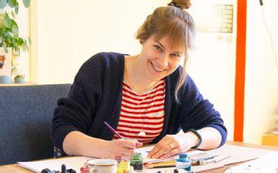 #14 Nina Sprong-Minnaar van 'ninamaakt' volgt haar hart en verdient haar geld met het verkopen van ansichtkaarten